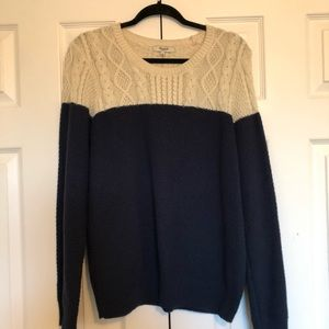 Madewell Colorblock Cableknit Sweater